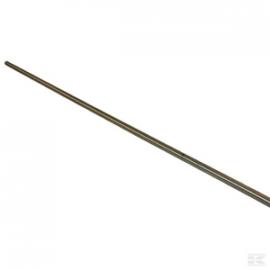 "Tube inox 2070 mm - 1/2""- 5 trous 7 mm chaque 50 cm"