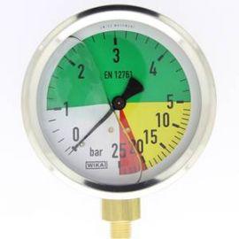 manomètre  à échelle dilatée 100 mm 1/4 - fixation périphérique - 0-5/25 bar